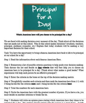 American Hero: Principal for a Day