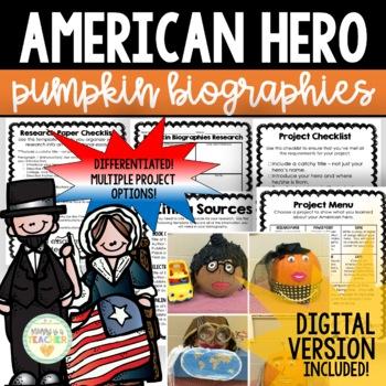 American Hero Pumpkin Biographies Research Project