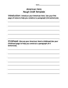 American Hero Rough Draft Template
