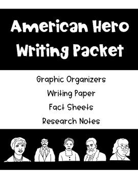 American Hero Writing Packet