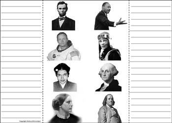 American Heroes Activity: George Washington, Rosa Parks, Abraham Lincoln, etc.