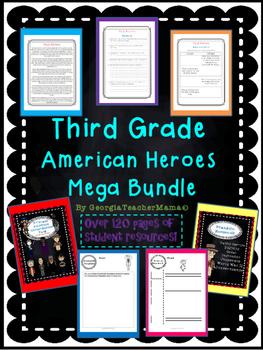 American Heroes 3rd Grade Social Studies Mega Bundle