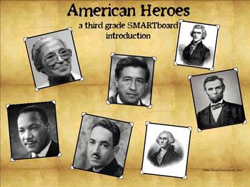 American Heroes - A Third Grade SMARTboard Introduction