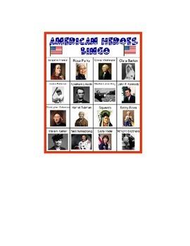 American Heroes BINGO