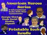 American Heroes Bundle! 9 Printable Activity Books-Georgia Third Grade