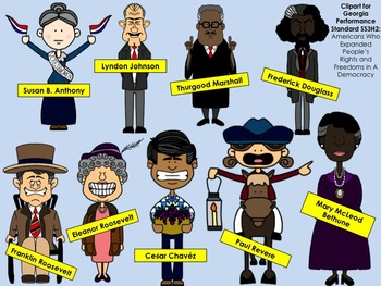 American Heroes Clipart: Third Grade Georgia Performance Standards