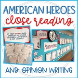 Presidents Day & Black History Month: Heroes Close Reading & Opinion Writing