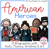 American Heroes Reading, Timelines, Tests, Art