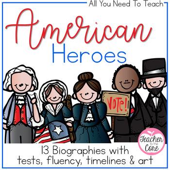 American Heroes Reading, Timelines, Tests, Art