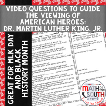 Video Questions -  American Heroes: Dr. MLK, Jr. - United Streaming