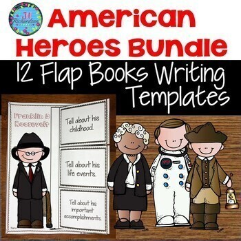 American Heroes Flap Book and Fast Facts Writing Bundle
