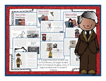American Heroes Part 1: Paul Revere, Frederick Douglass, and Susan B. Anthony