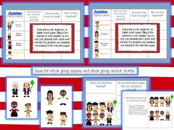 American Heroes: Reading, Writing, Graphing, and Problem Solving