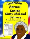 American Heroes Series-Book Nine- Mary McLeod Bethune Printable Activity Book