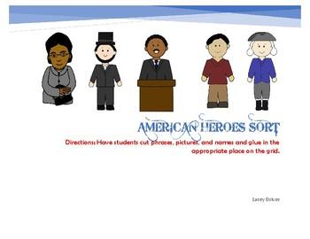 American Heroes Sort