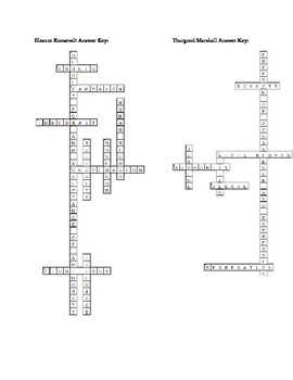 American Heroes Vocabulary Crossword Puzzle Pack