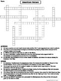 American Heroes Worksheet/ Crossword Puzzle