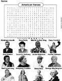 American Heroes Worksheet/ Word Search (Historical Figures)