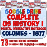 American History 1: Colonies - 1877 Google Drive Interactive Notebook Bundle