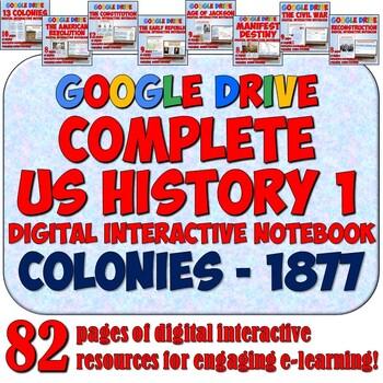 American History 1: Colonies - 1877 Google Drive Interacti