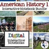 American History 1 Digital Interactive Notebook Bundle for Google Drive