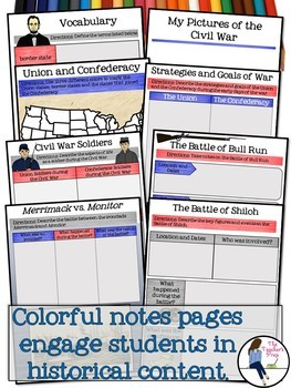 American History 1 Digital Interactive Notebook Bundle for Google Drive