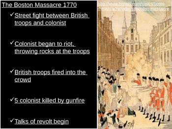 American History 1 - Motivation for Revolution