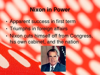 American History 1969-1980s--Nixon, Ford, Carter Powerpoint