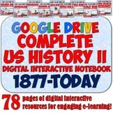 American History 2: 1877-Present Google Drive Interactive Notebook Bundle
