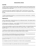 American History 2 Review Packet
