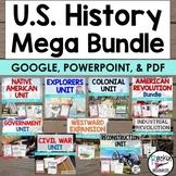 American History U.S. History Mega Bundle Informational Text | Distance Learning
