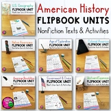 American History 7 Unit Bundle Informational Texts, Maps,