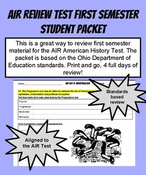 American History AIR Review Test First Semester Student Packet