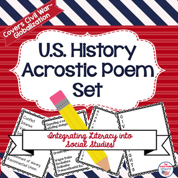 American History Acrostic Poem Set