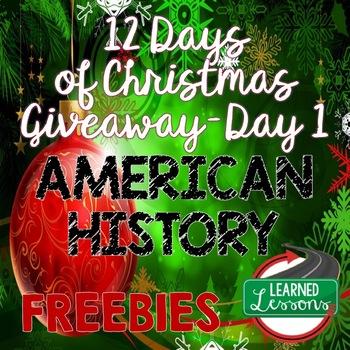 American History Activities Free, Back-To-School, New Teachers