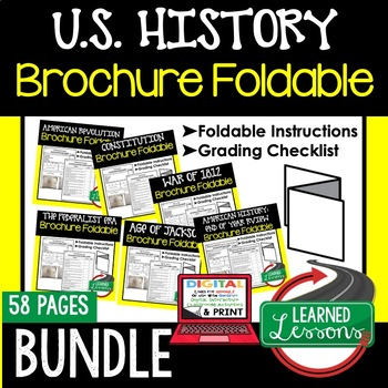 American History Activity Bundle, American History Foldable Bundle