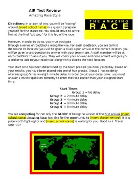 American History (Ohio) AIR Test Review: Amazing Race Style