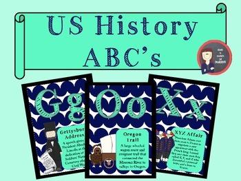 American History Alphabet Chart