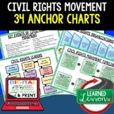 American History Anchor Charts: Civil Rights Movement (Black History)