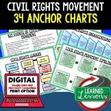 American History Anchor Charts: Civil Rights Movement Anchor Charts