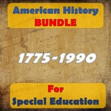 American History BUNDLE for Special Education