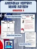 American History Bingo Review Game (Quarter 3 Content)