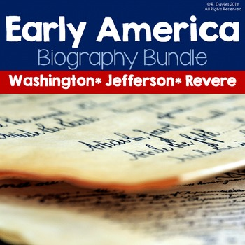 Who was...American History Bundle: Washington, Jefferson, & Revere Biographies