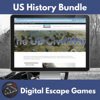 American History Breakout Bundle - digital breakouts