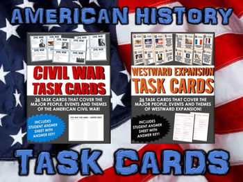 American History Bundle - 10 Sets of Task Cards for all of American History!