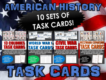 American History Bundle - 10 Sets of Task Cards for all of
