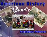 American History Bundle:  1200 B.C. -  21st Century