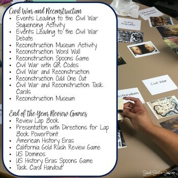 AMERICAN HISTORY ACTIVITIES FOR THE ENTIRE YEAR