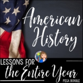 US History SUPER Bundle Activities for the Entire Year Includes Modified Lessons