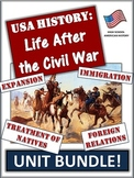 Civil War (Post) American History Unit Bundle: 80+ Pages/S